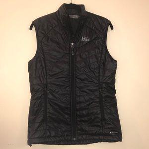 REI Black Thin Puffer Vest